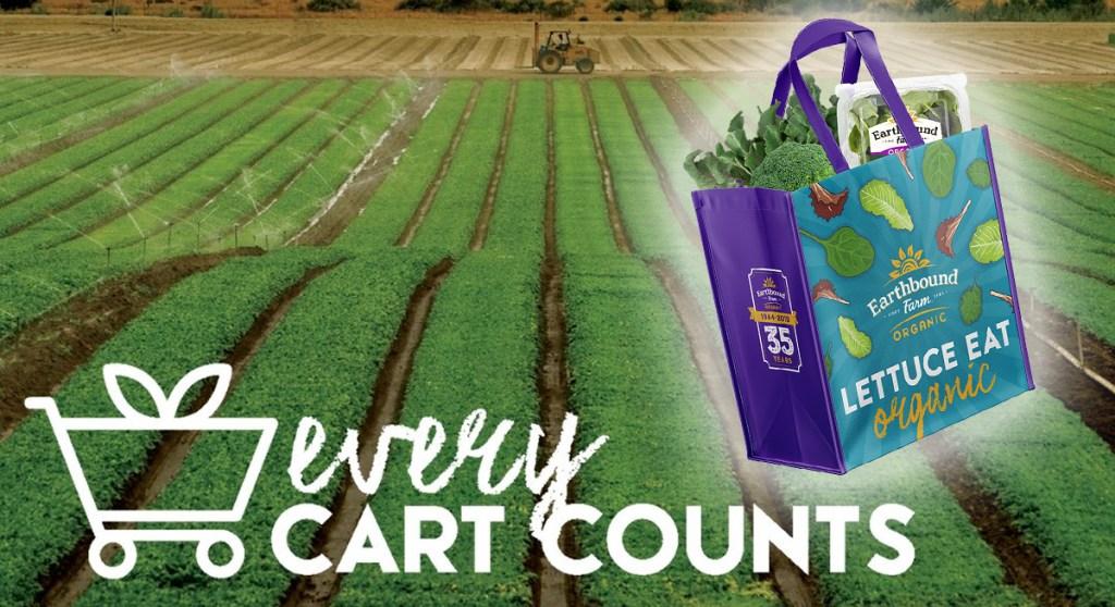 earthbound farm free reusable grocery bag