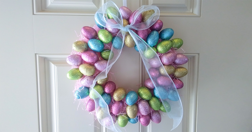 happy friday – easter egg wreath from Dollar Tree