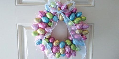 Check Out This Chic Easter Wreath Made For $6 Using Dollar Tree Supplies