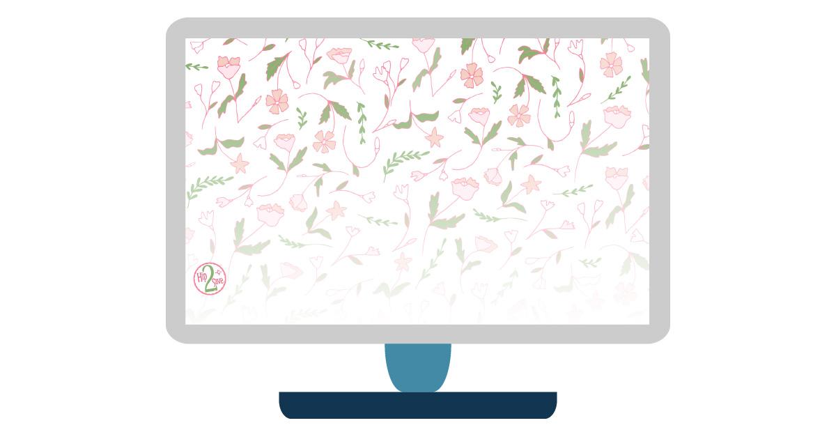 digital wallpapers — illustrated flowers desktop background