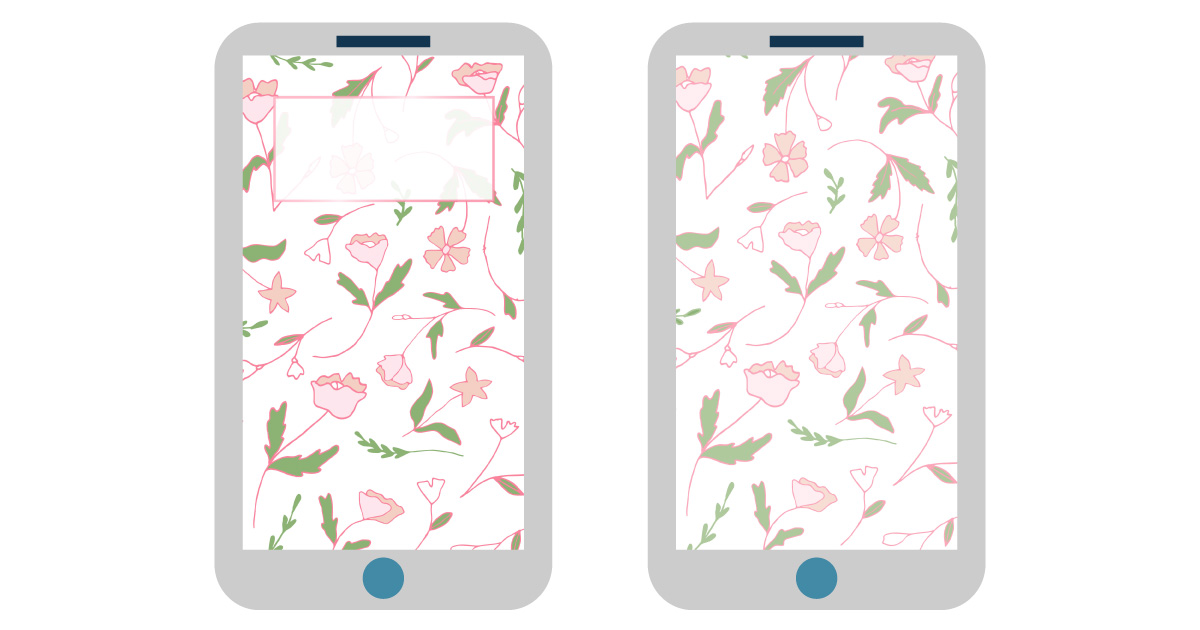 digital wallpapers — illustrated flowers smartphone background