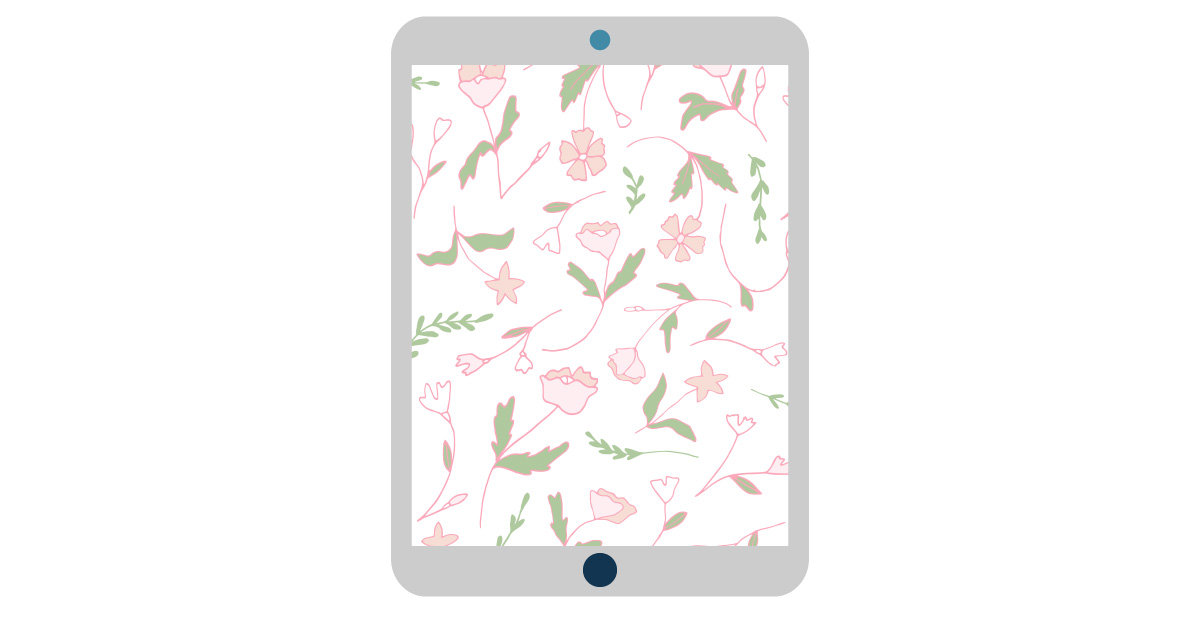 digital wallpapers — illustrated flowers tablet background
