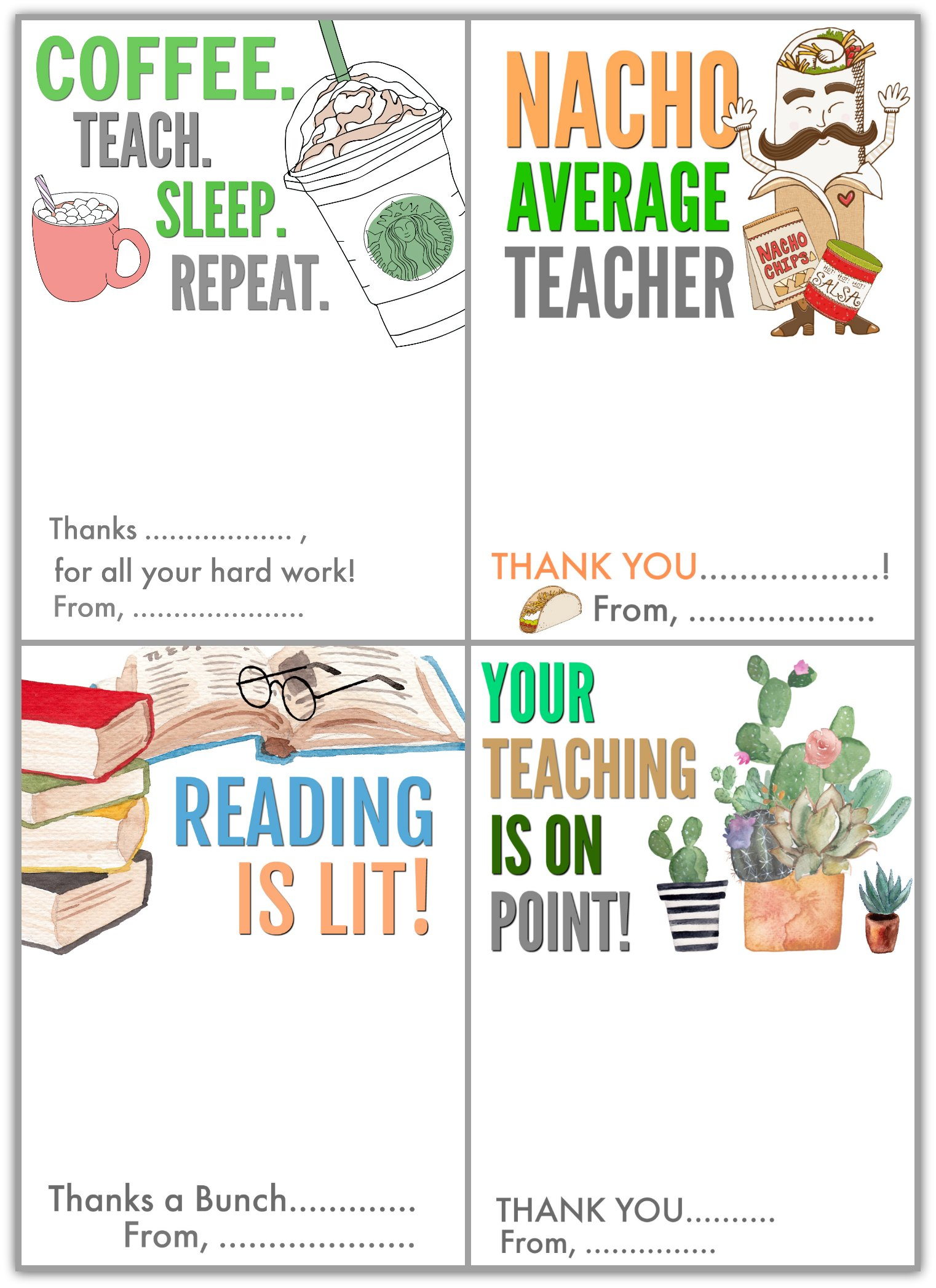 photo about Teacher Appreciation Cards Printable known as Cost-free Printable Instructor Appreciation Present Card Holders