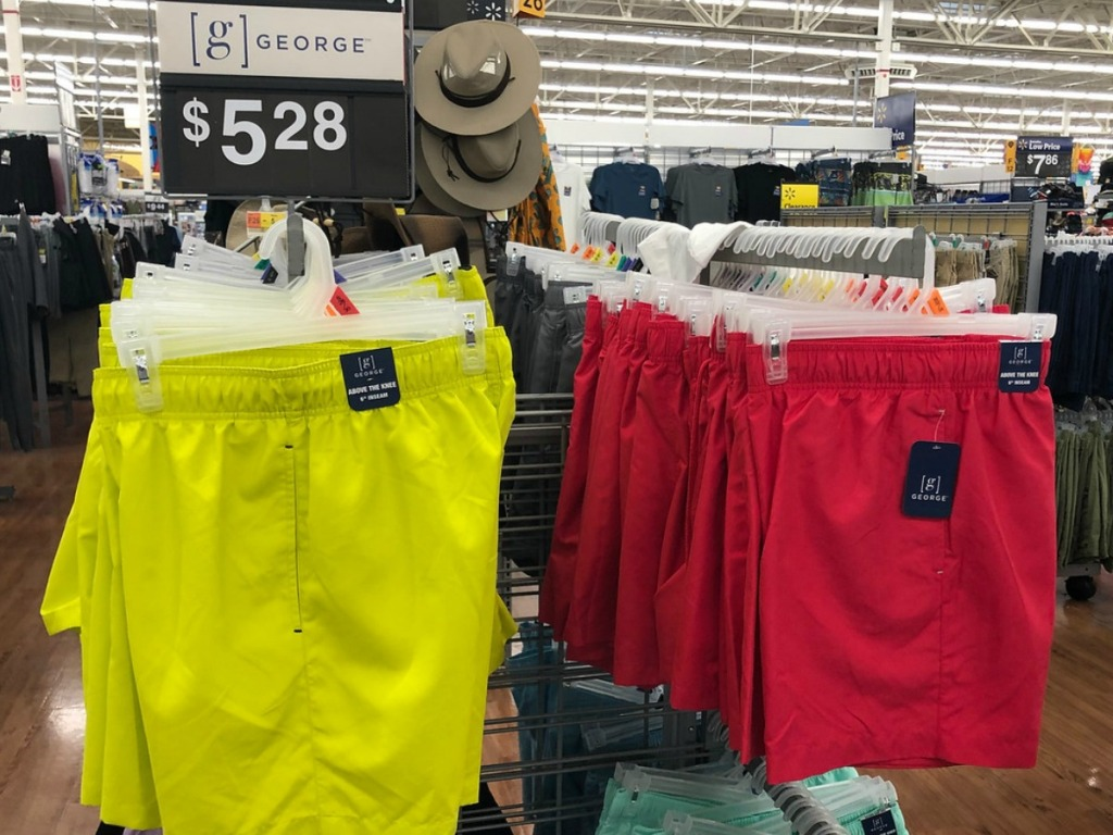0d8ac8822cd24 If you are heading to Walmart, look for these George Men's Basic Swim Shorts  priced at only $5.28 in-store! We found these in 8 colors and these are  made ...