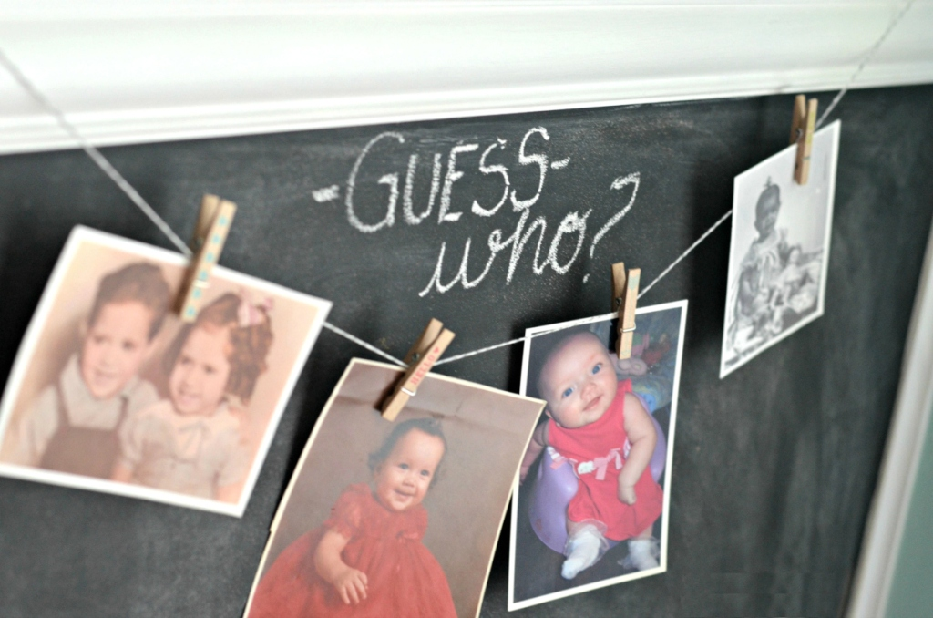guess who baby shower game