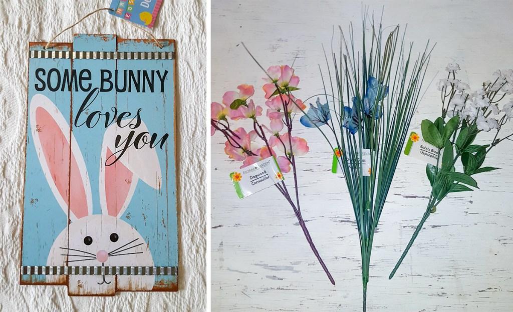 happy friday - Easter wreath hanging on door