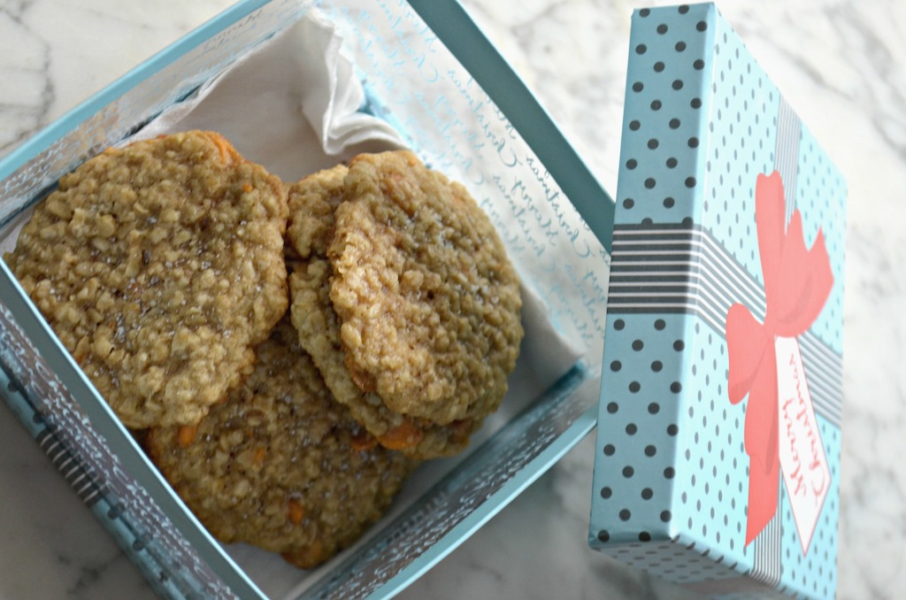 gift boox filled with homemade cookies