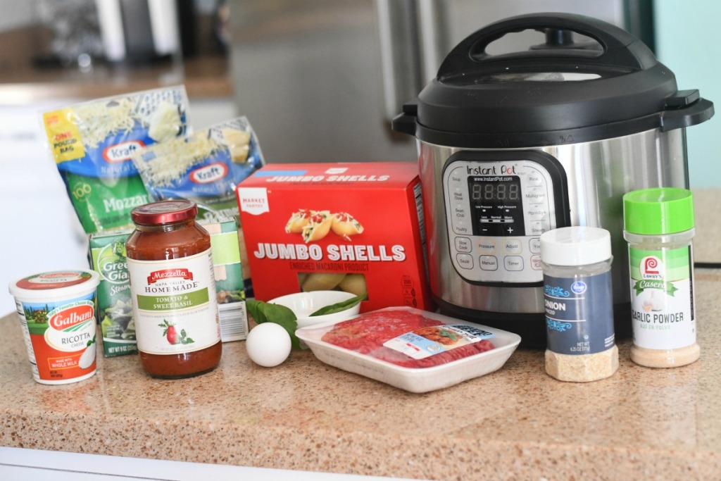 ingredients for instant pot shells