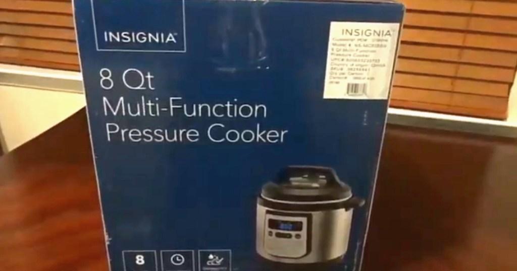 insignia 8-quart pressure cooker box