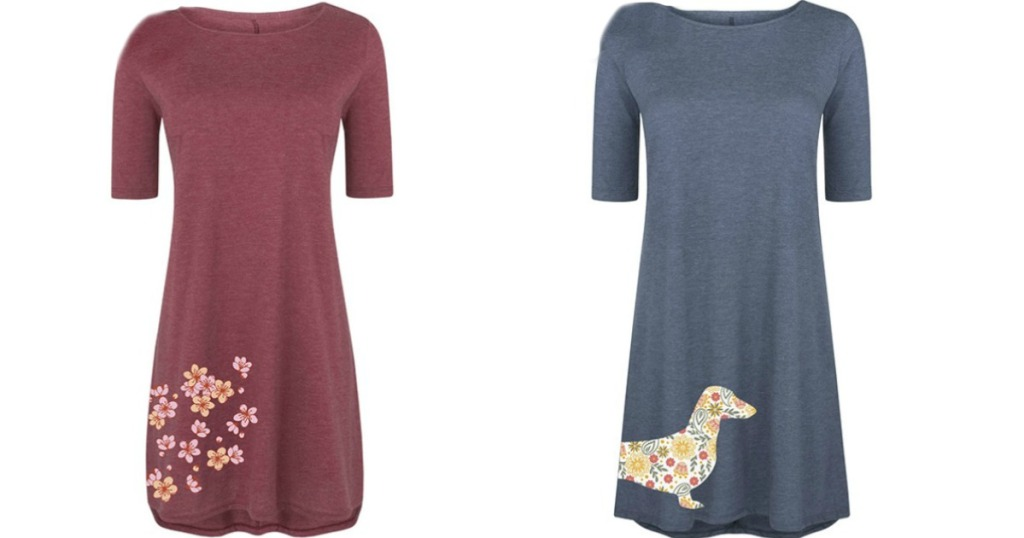 b23f0aa657be Instant Message Women's T-Shirt Dresses Only $12.79 (Regularly $45)