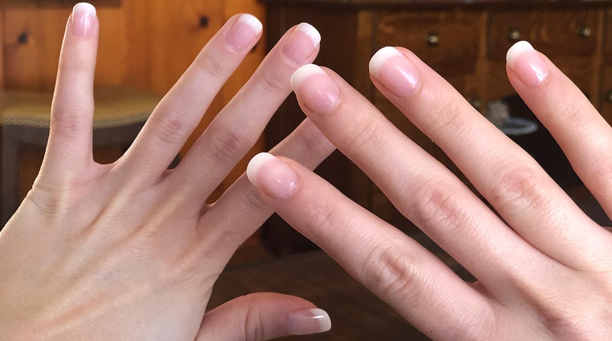 kiss nail tutorial — finished kiss acrylic nails application