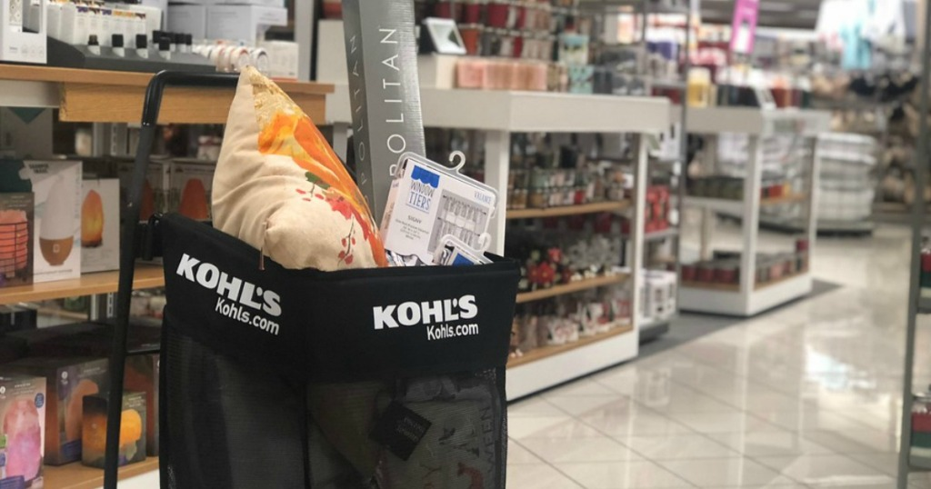 Kohl's home decor in shopping cart