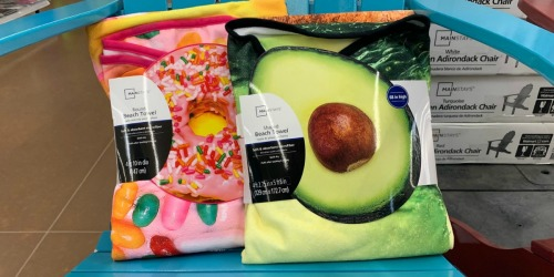 FUN Round Beach Towels Only $9.97 at Walmart (Avocado, Donut, Pizza & More)