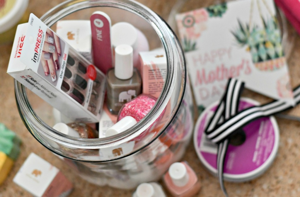 supplies to make manicure in a jar idea gift idea for mom
