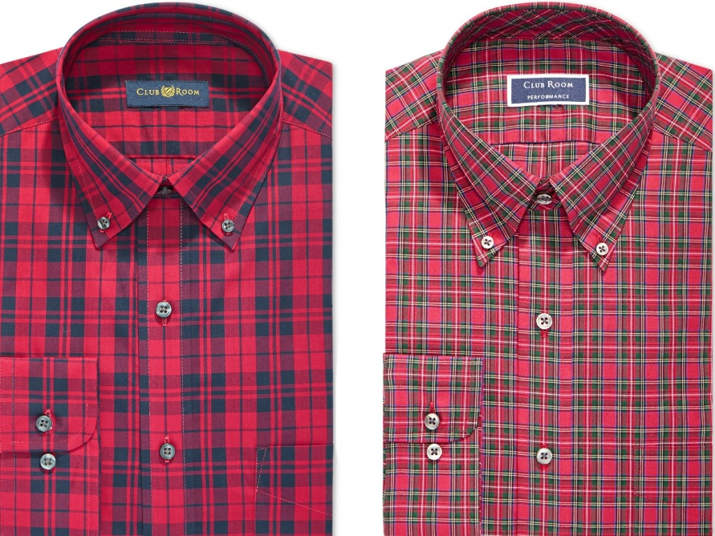 447ae8f0efd Club Room Assorted Men's Slim-Fit Button Down Collar Dress Shirts Only  $9.96 (regularly $55)