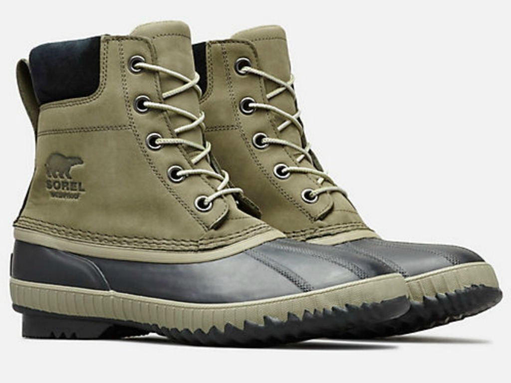 e92797d6638de Men s Cheyanne II Lace Duck Boot  92.90 (regularly  155) Use promo code  SORELAPR19 (up to 55% off) Free shipping w  Sorel Account Final cost  69.67  shipped!