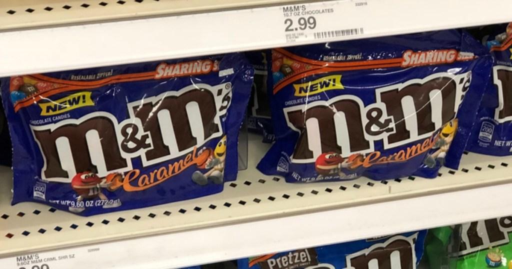 chocolate candy on shelf