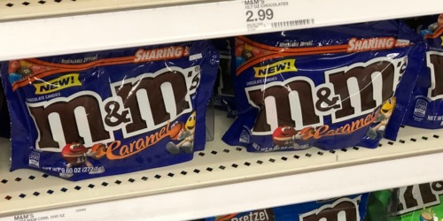 EIGHT M&M's Caramel Sharing Size Bags Just $13.58 on Amazon (Only $1.70 Each)