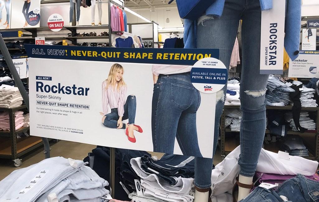 old navy spring capsule wardrobe – rockstar jeans
