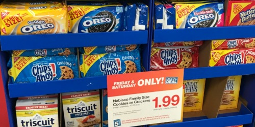 Kroger & Affiliate Shoppers: $1.99 Nabisco Cookies & Crackers & More (4/5-4/6 Only)