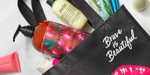 Free Beauty Tote w/ Select QVC Beauty Purchase ($200+ Value) – 80% Proceeds Go to Cancer and Careers