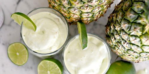 Indulge with a Creamy Lime Pineapple Dole Whip Frozen Dessert!