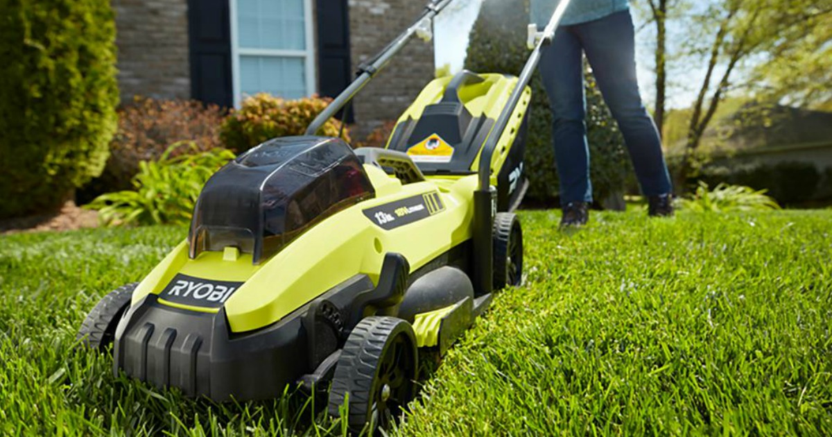 Ryobi 13 Quot Cordless Lawn Mower Only 149 Shipped Perfect