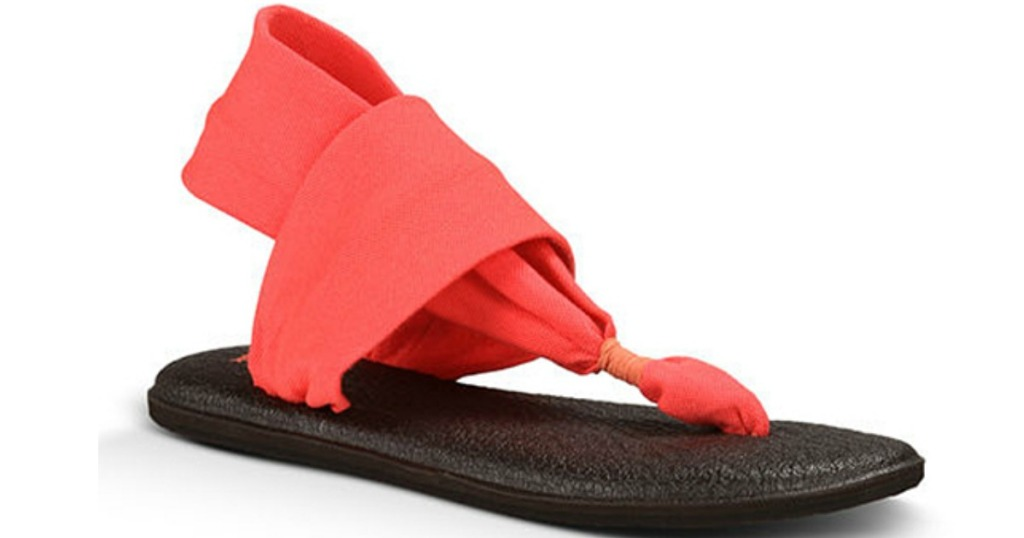e04701cd0b06 These popular Sanuk sandals are lightweight and feature a re-purposed yoga  mat footbed to cradle feet in cushioned comfort.