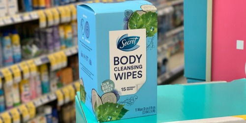 60% Off Secret Body Cleansing Wipes at Walgreens After Cash Back
