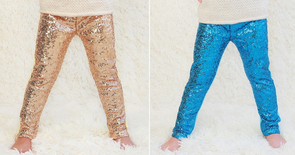 bca7549380817 These leggings are available in many different colors, styles, and sizes –  from newborn to big girls! Note that most of these sparkly leggings run  small so ...