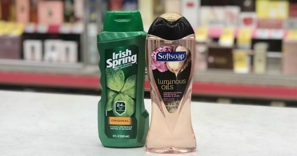 softsoap and irish spring body wash
