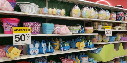 Up to 50% Off Easter Decor, Baskets & Candy at Target