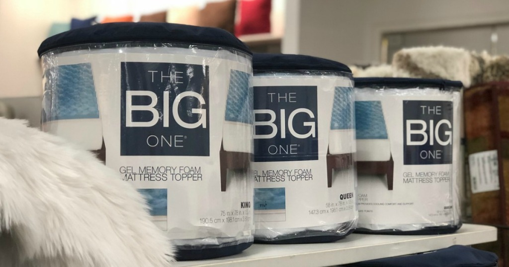 The Big One Gel Mattress Packages on display in store