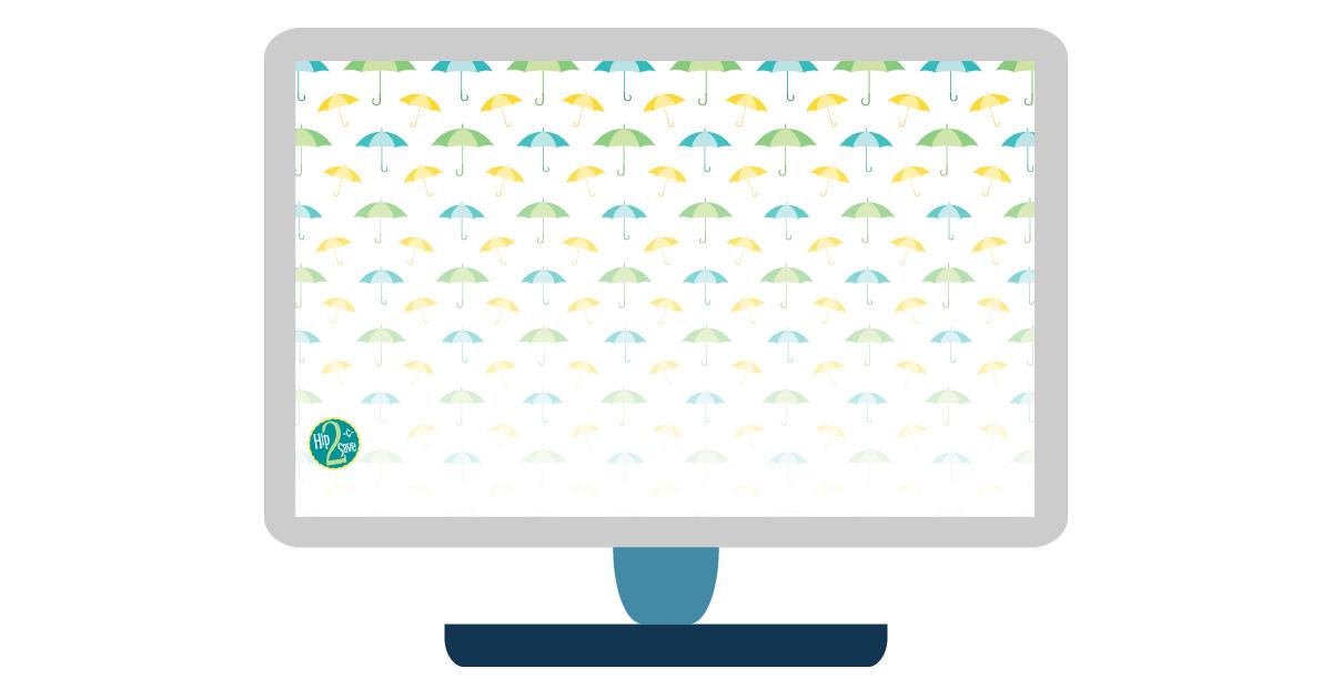 april digital wallpapers — umbrellas desktop background