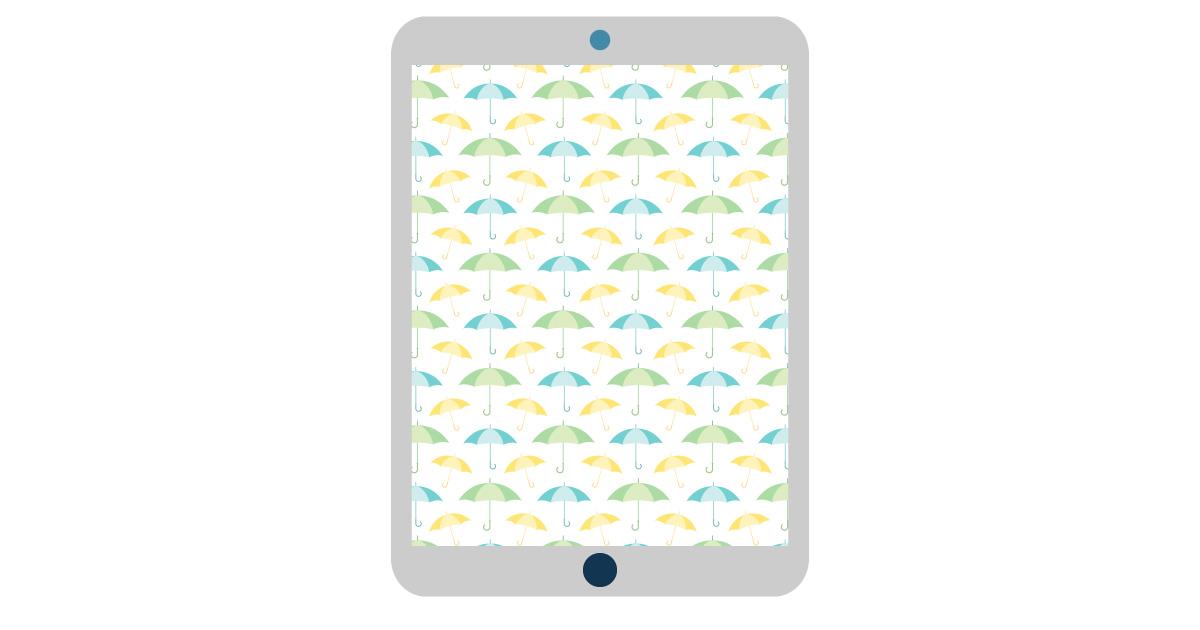 april digital wallpapers — umbrellas tablet background