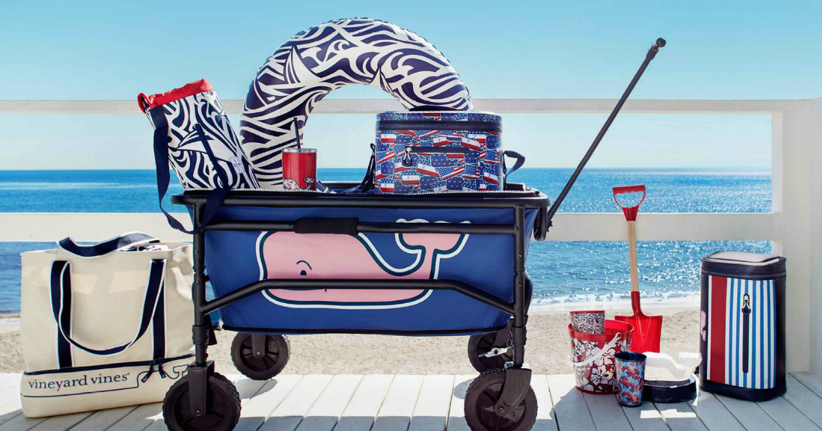 vineyard vines wagon, float ring, and coolers at Target