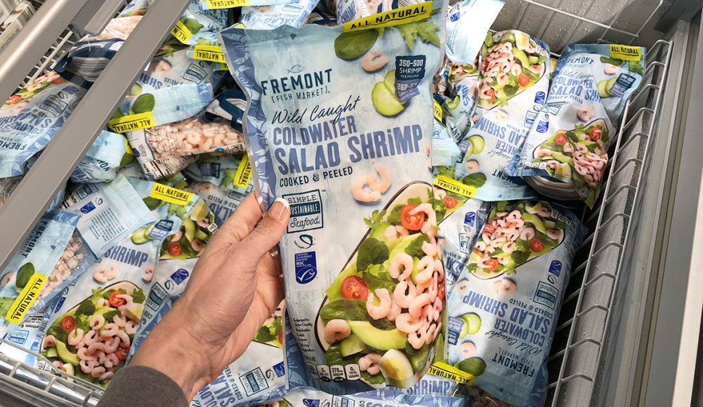 aldi food finds april 3 - fully cooked wild caught shrimp for salads