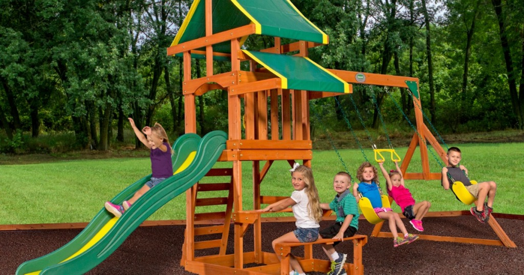 Up To 30 Off Kidkraft Backyard Discovery Wooden Swing Sets At