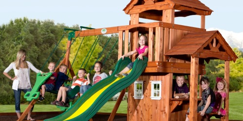 Up to 35% Off KidKraft Backyard Discovery Wooden Swing Sets at Walmart.com