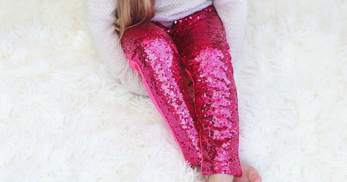 fecfe67dc7002 Baby, Toddler & Girl's Sequin Leggings Only $12.79 at Zulily (Regularly $32)