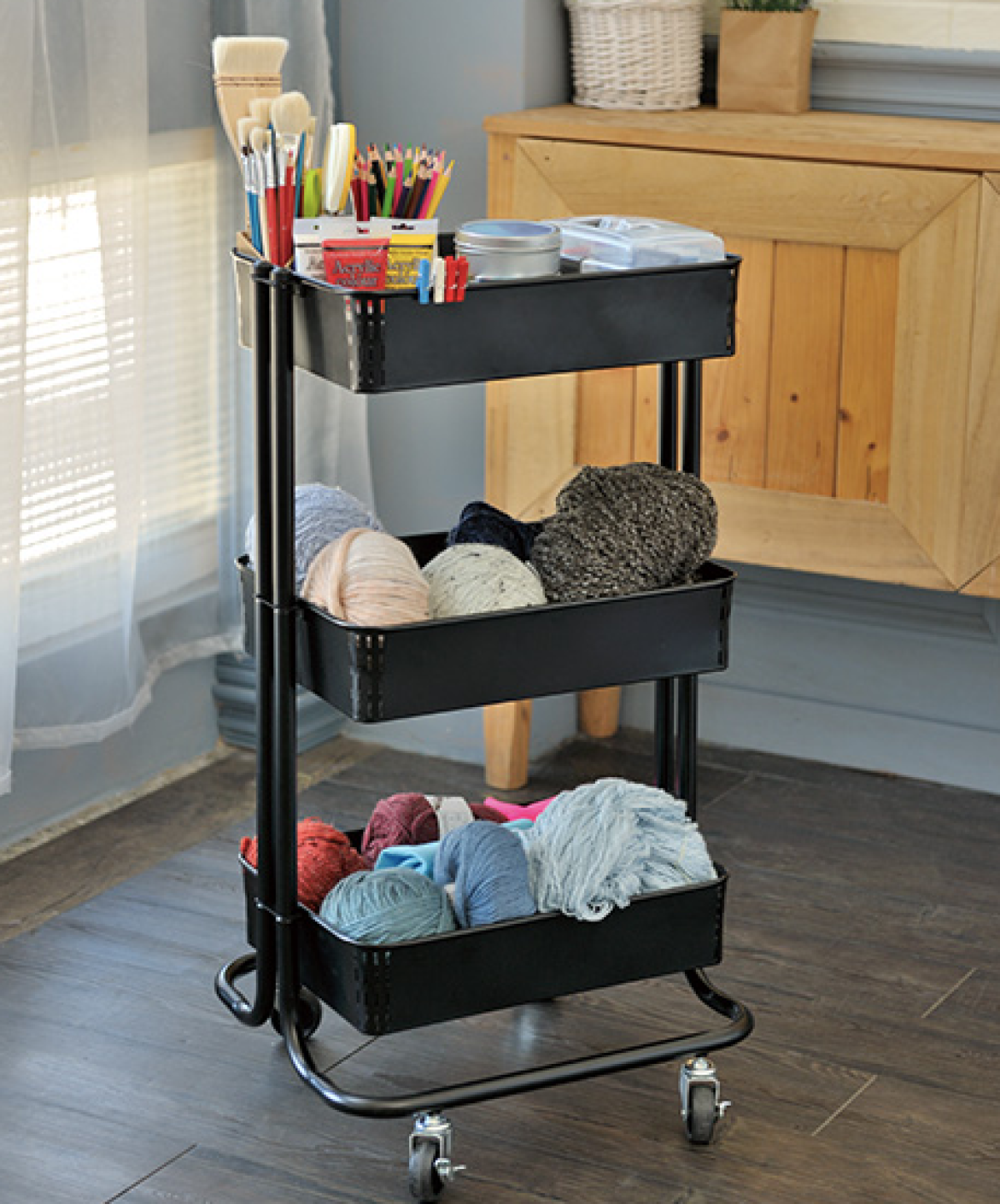 3 Tier Rolling Cart Only 15 At