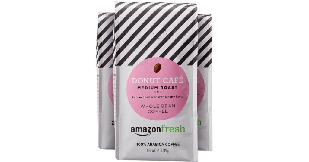 AmazonFresh Donut Cafe Whole Bean Coffee 3-Pack