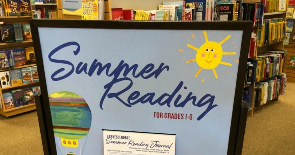 Barnes & Noble Summer Reading Program Sign