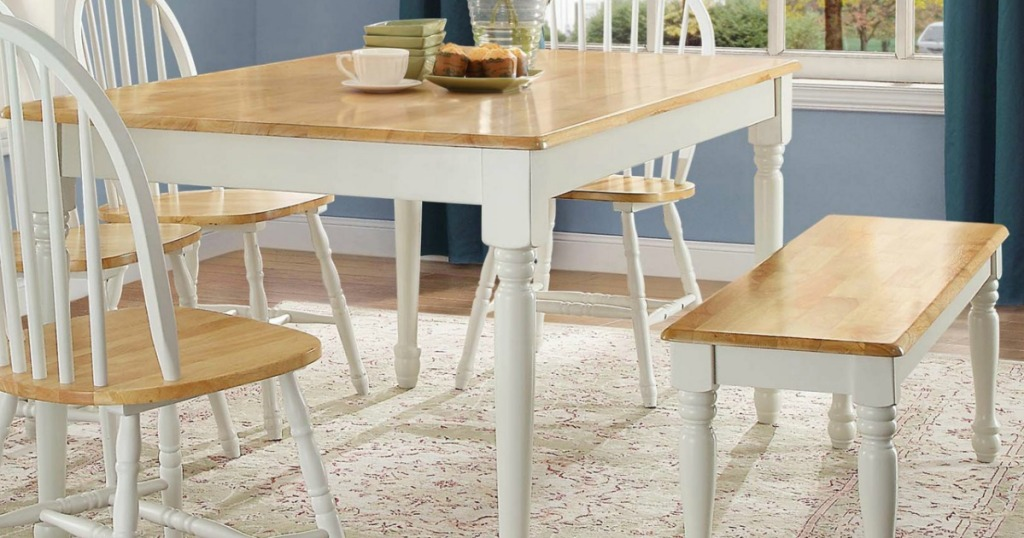 Better Homes & Gardens Farmhouse Dining Bench Just $39