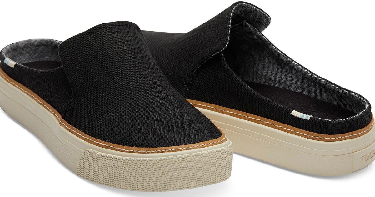 women's black slip-on TOMS sneakers