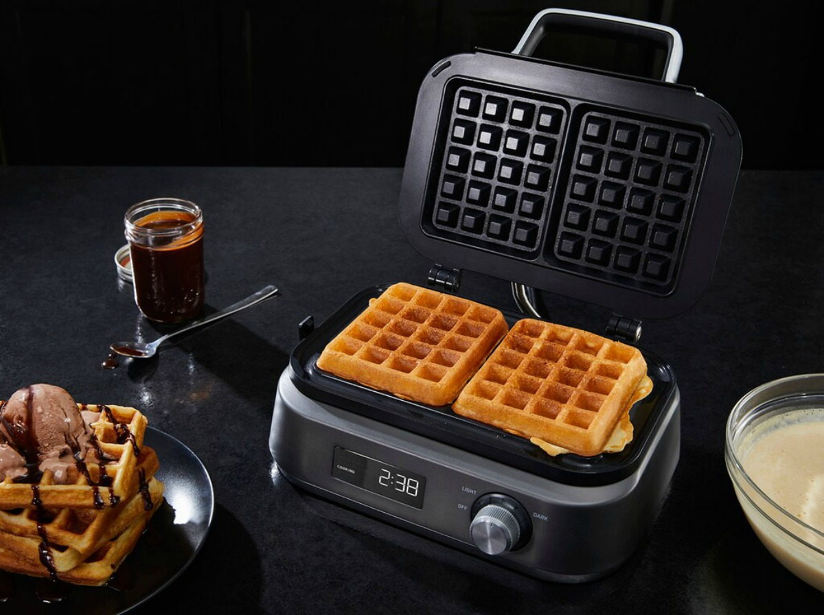 waffle maker with waffles in it