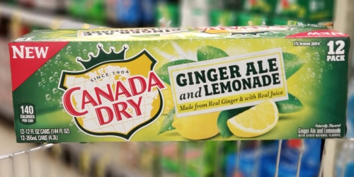 Canada Dry Ginger Ale & Lemonade 12-Packs Only $1.66 Each After Cash Back at Walgreens