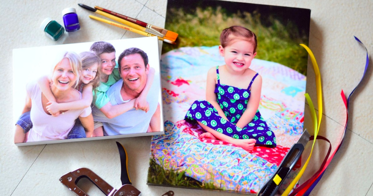 Canvas Champ Canvas Prints of a family and a young girl