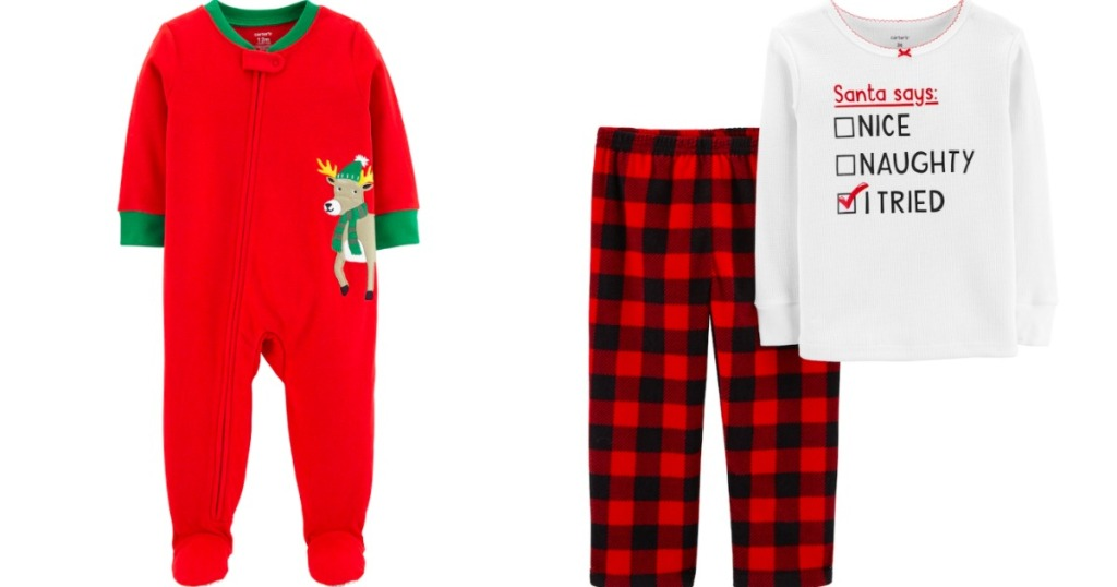 Toddler Boy Christmas Pajamas.Over 90 Off Carter S Toddler Baby Christmas Pajamas At