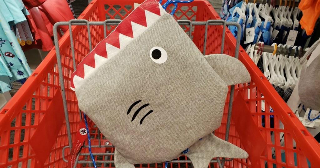 Cat & Jack Boys Shark Drawstring Backpack